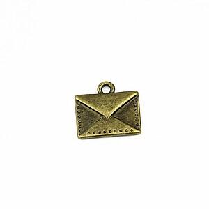 Charm bronz plic 14x15mm