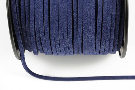 Snur suede (imitatie piele intoarsa) 3x1mm, bleumarin (5m)