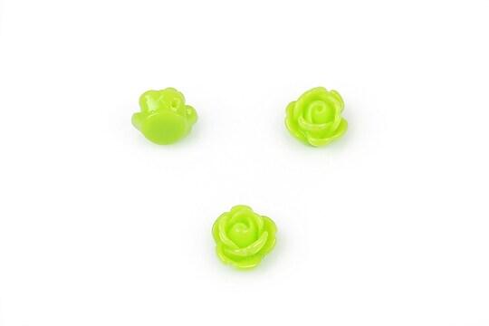 Trandafir rasina cu gaura, 9mm - verde deschis