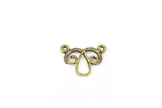 Chandelier auriu antichizat 15x20mm