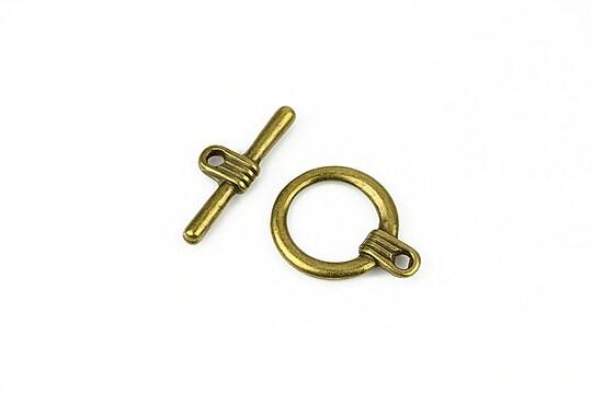 Inchizatoare toggle bronz 20x15,5mm