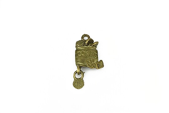 Charm bronz borcan cu fursecuri 26x12mm