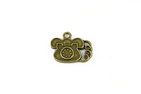 Charm bronz telefon 18x22mm