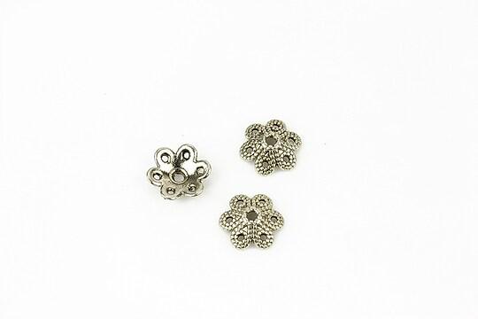 Capacele margele argint tibetan floare 9,5mm