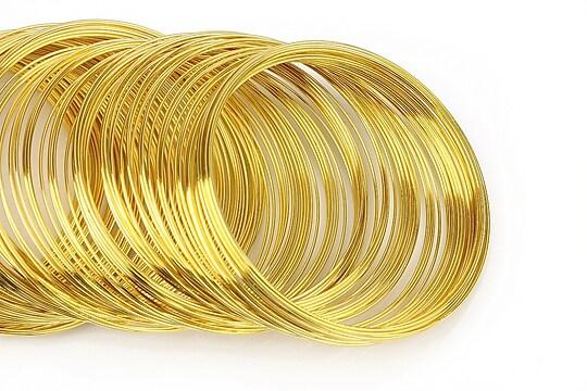 Sarma cu memorie otel, auriu, 5,5cm, grosime 0,6mm (10 spire)