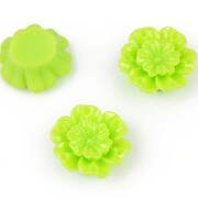 Cabochon rasina floare 18mm - verde deschis