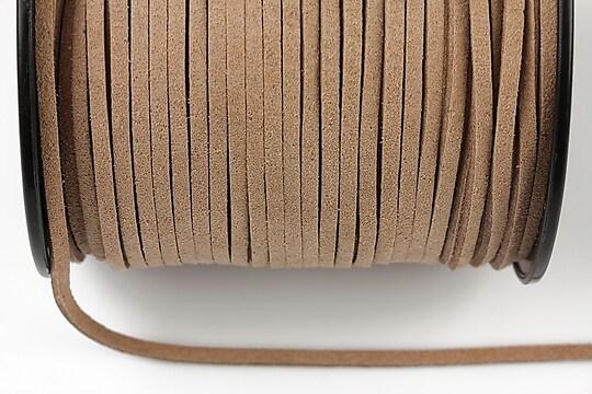 Snur suede (imitatie piele intoarsa) 3x1mm, beige (5m) - cod 174