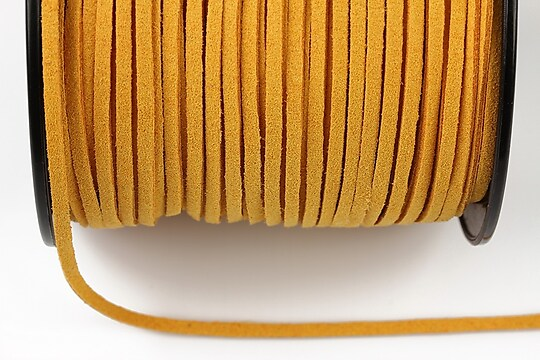 Snur suede (imitatie piele intoarsa) 3x1mm, portocaliu (5m) - cod 179