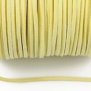 Snur suede (imitatie piele intoarsa) 3x1mm, galben deschis (5m) - cod 181