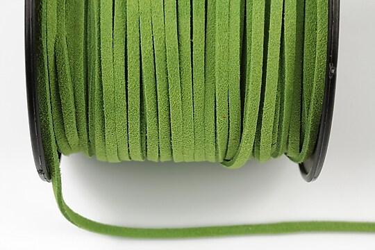 Snur suede (imitatie piele intoarsa) 3x1mm, verde deschis (5m) - cod 185