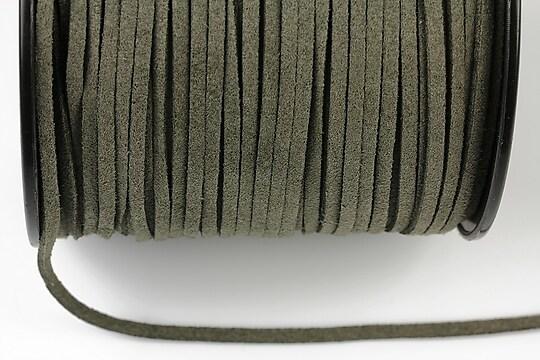 Snur suede (imitatie piele intoarsa) 3x1mm, grej inchis(5m) - cod 187