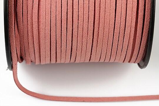 Snur suede (imitatie piele intoarsa) 3x1mm, roz deschis (1m)