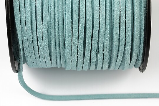 Snur suede (imitatie piele intoarsa) 3x1mm, bleu (5m) - cod 192