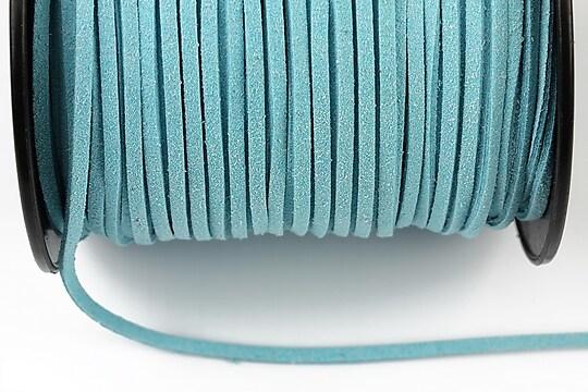Snur suede (imitatie piele intoarsa) 3x1mm, bleu (5m) - cod 193