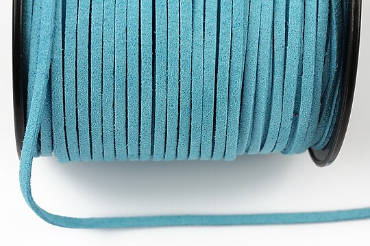Snur suede (imitatie piele intoarsa) 3x1mm, bleu (5m) - cod 194