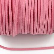 Snur suede (imitatie piele intoarsa) 3x1mm, roz (5m) - cod 201