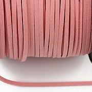 Snur suede (imitatie piele intoarsa) 3x1mm, rose blush (5m) - cod 203