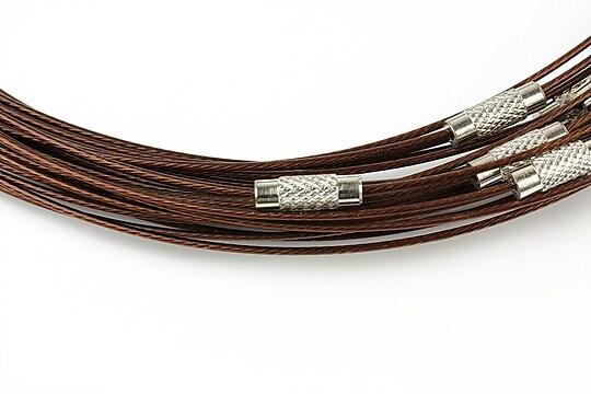 Baza siliconata colier, diametru 14,5cm - maro inchis