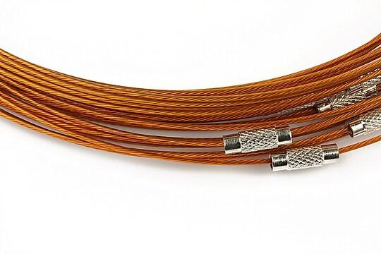 Baza siliconata colier, diametru 14,5cm - maro deschis