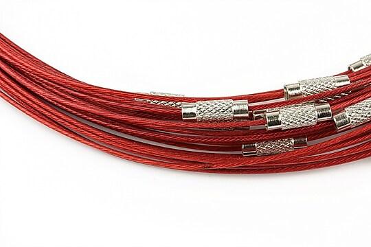 Baza siliconata colier, diametru 14,5cm - rosu