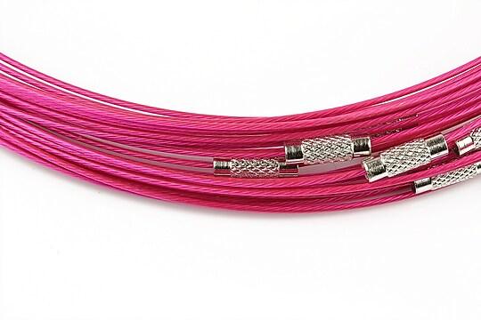 Baza siliconata colier, diametru 14,5cm - fucsia