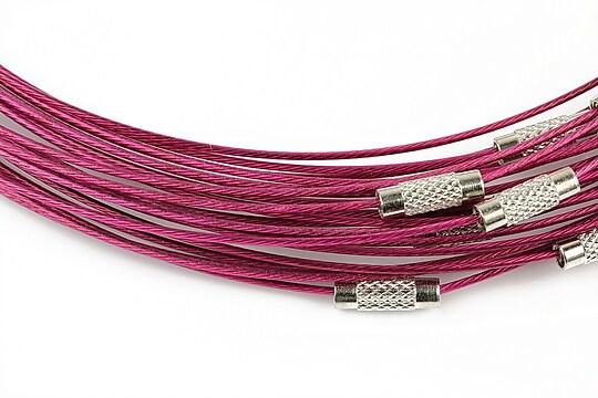 Baza siliconata colier, diametru 14,5cm - magenta