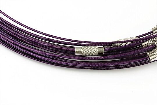Baza siliconata colier, diametru 14,5cm - mov inchis