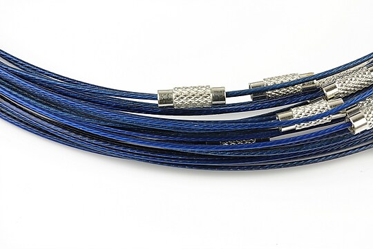 Baza siliconata colier, diametru 14,5cm - albastru cobalt