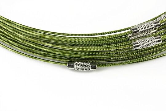 Baza siliconata colier, diametru 14,5cm - verde olive