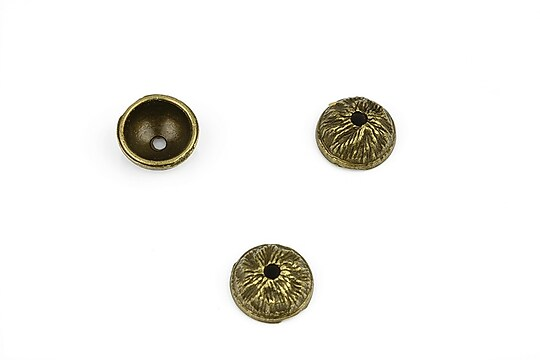 Capacele margele bronz 11x5mm