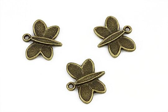Charm bronz fluture 18x20mm