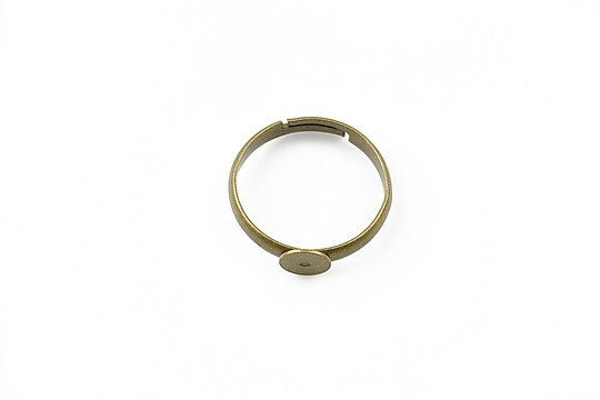 Baza de inel bronz, reglabila, platou 6mm