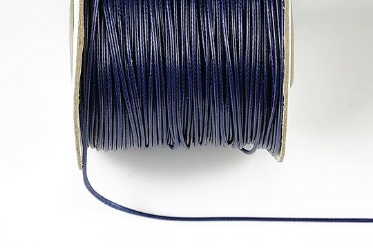 Snur cerat grosime 1mm, albastru inchis (10m)