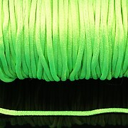 Snur sintetic satinat grosime 2mm (5m) - verde lime
