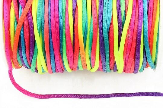 Snur sintetic satinat grosime 2mm (1m) - multicolor