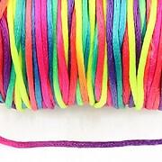 Snur sintetic satinat grosime 2mm (5m) - multicolor