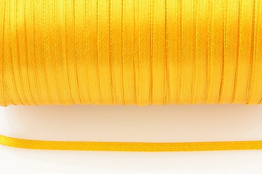 Snur saten latime 3mm (10m) - portocaliu deschis