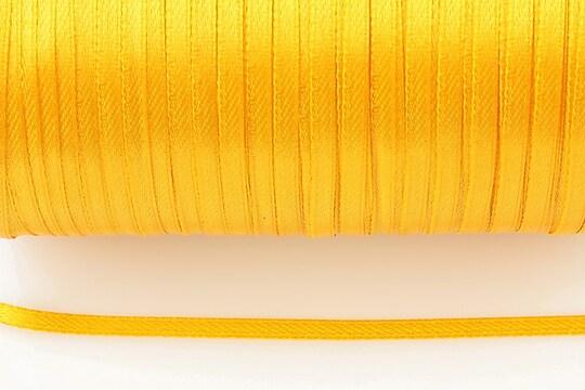 Snur saten latime 3mm (1m) - portocaliu deschis