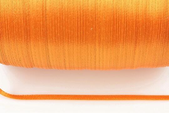 Snur saten latime 3mm (1m) - portocaliu