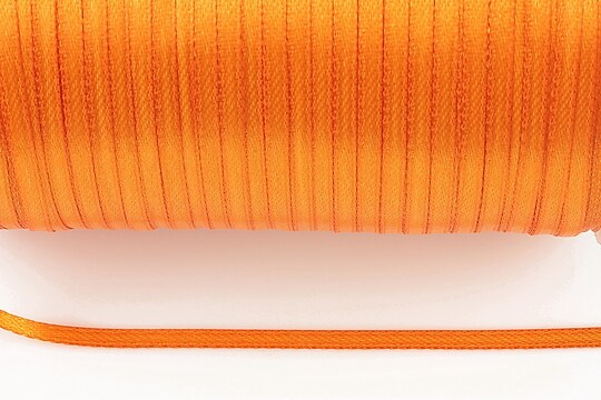 Snur saten latime 3mm (1m) - portocaliu lucios