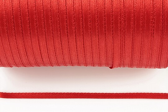 Snur saten latime 3mm (10m) - rosu