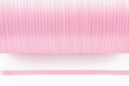 Snur saten latime 3mm (10m) - roz deschis