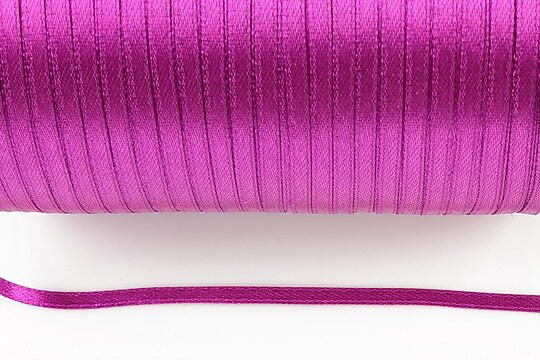 Snur saten latime 3mm (10m) - magenta