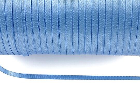 Snur saten latime 3mm (10m) - albastru