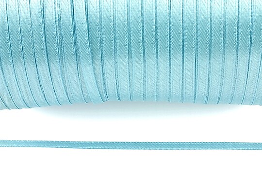 Snur saten latime 3mm (1m) - bleu