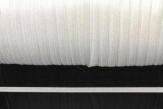 Snur saten latime 3mm (10m) - alb