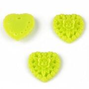 Cabochon din  rasina inima 17mm - verde deschis