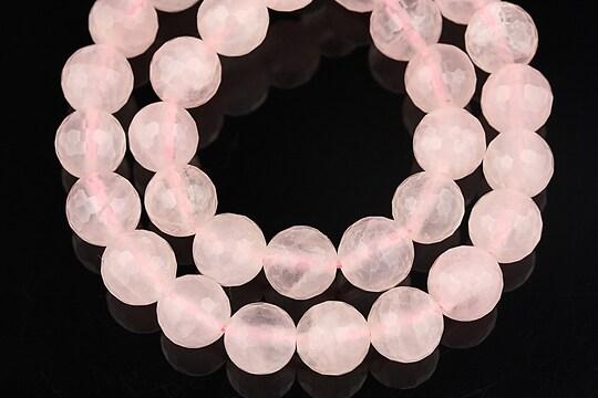 Cuart roz sfere fatetate 8mm