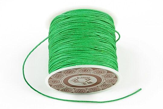Snur Shamballa grosime 1mm, rola de 28m - verde