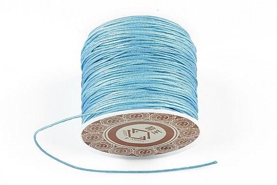 Snur Shamballa grosime 1mm, rola de 28m - albastru deschis